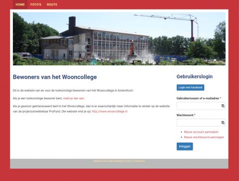 Bewonerswebsite Wooncollege Amersfoort